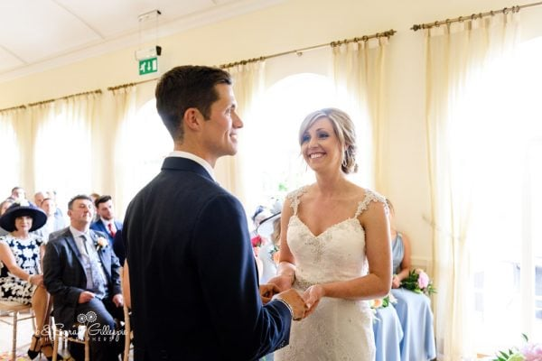 Bride and groom get married at Alrewas Hayes