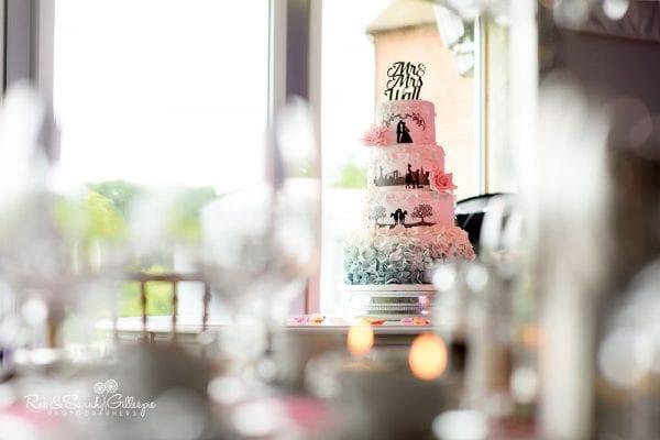 Wedding cake at Alrewas Hayes