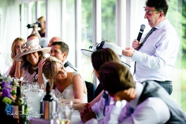 Wedding speeches at Alrewas Hayes