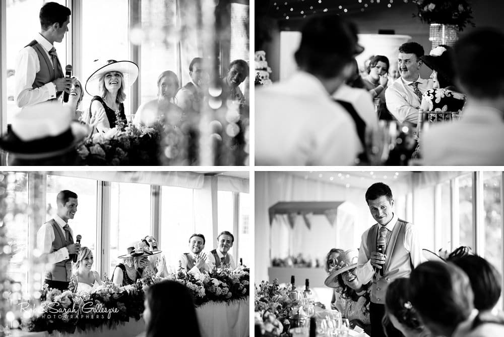 Speeches at Alrewas Hayes wedding