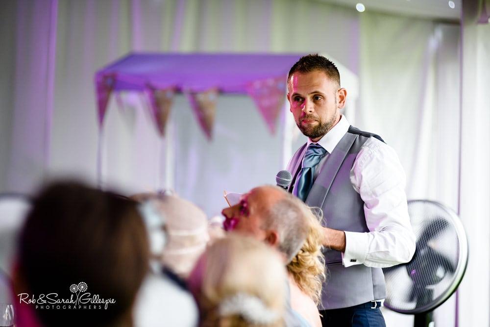 Speeches at Alrewas Hayes wedding