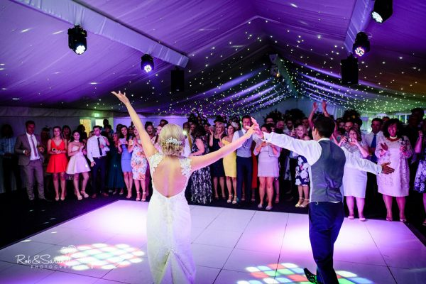 Bride and groom first dance at Alrewas Hayes wedding