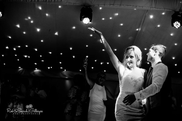 Bride and groom dancing at Alrewas Hayes wedding