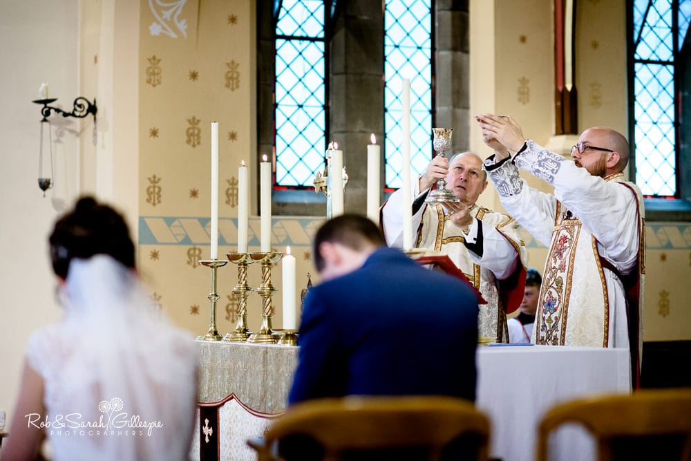 Wedding photography at Our Lady Of The Angels Church Nuneaton and Ashton Lodge