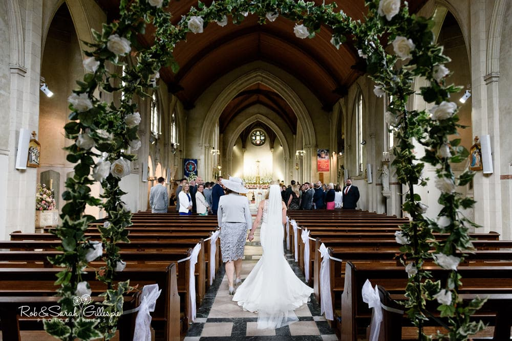 Wedding ceremony at Olton Friary Roman Catholic church