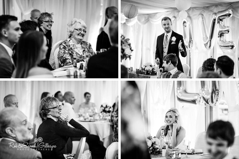Wedding speeches at New Hall Hotel