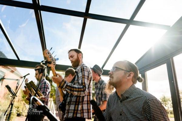 Wedding band play at Redhouse Barn