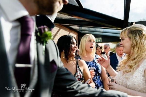 Guest enjoy Redhouse Barn wedding reception
