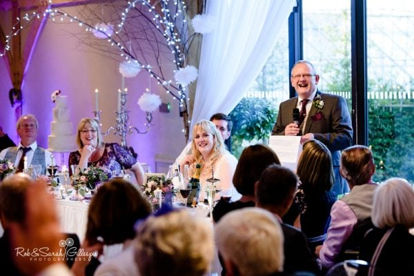 Wedding speeches at Redhouse Barn