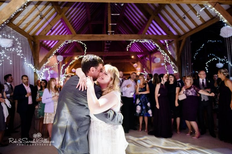 Wedding first dance at Redhouse Barn