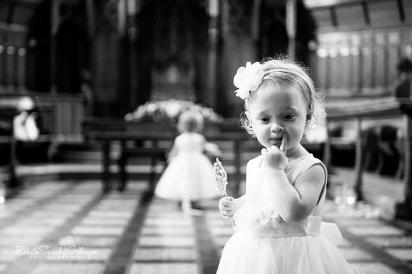 Flowergirls at Stanbrook Abbey wedding