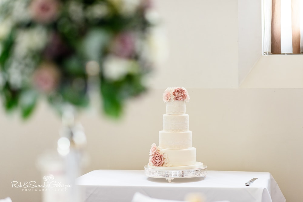 Wedding cake at Stanbrook Abbey