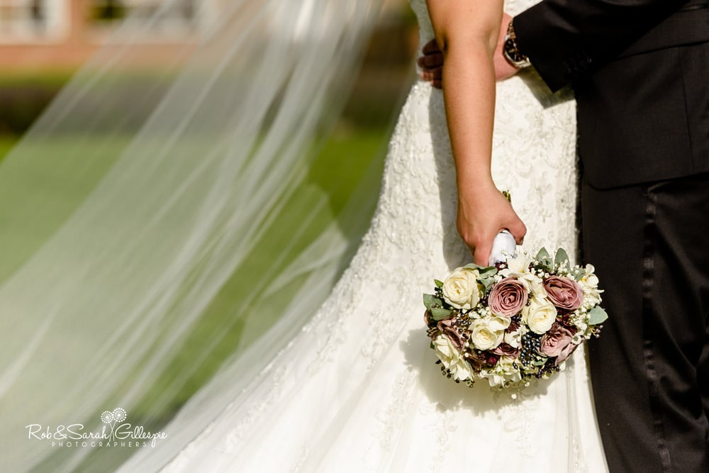 Bride's bouquet at Stanbrook Abbey