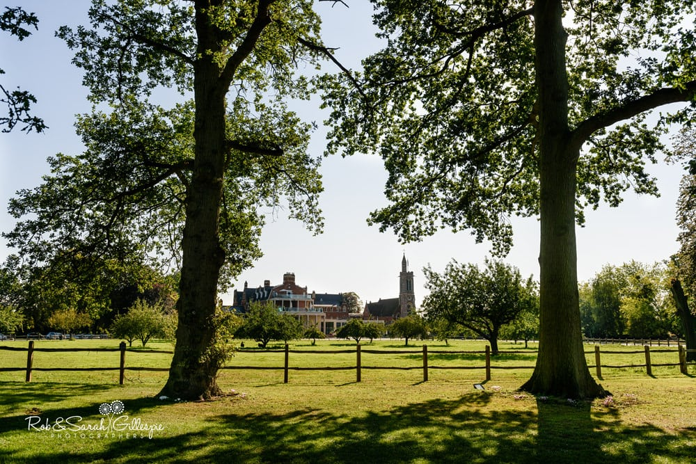 View of Stanbrook Abbey, Worcestershire wedding venue