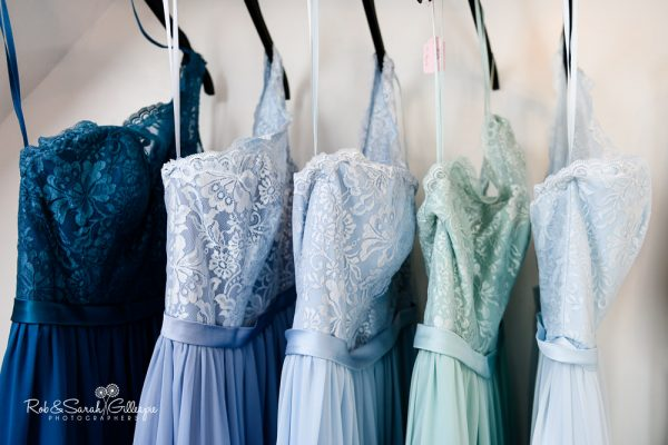 Bridesmaids dresses at Stanbrook Abbey