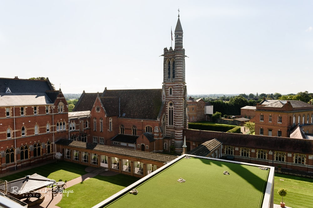 View from room at Stanbrook Abbey