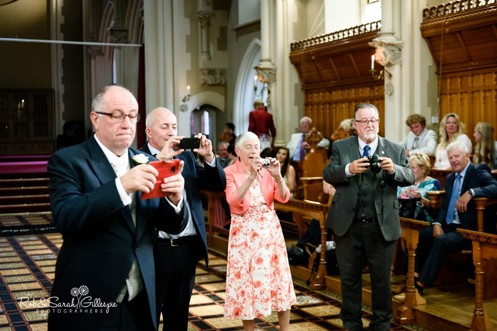 Wedding civil ceremony in Callow Great Hall at Stanbrook Abbey