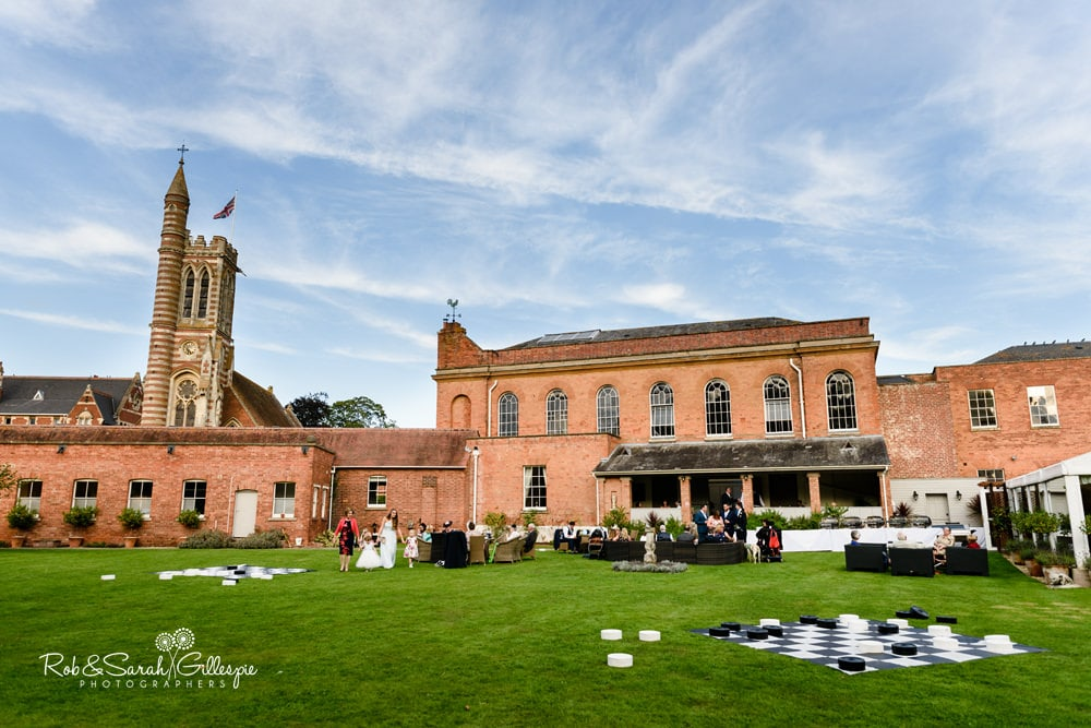 Stanbrook Abbey wedding evening reception