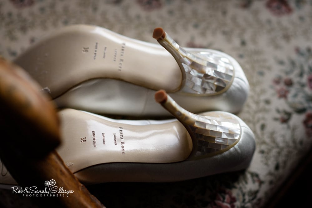 Heels of Freya Rose bridal shoes