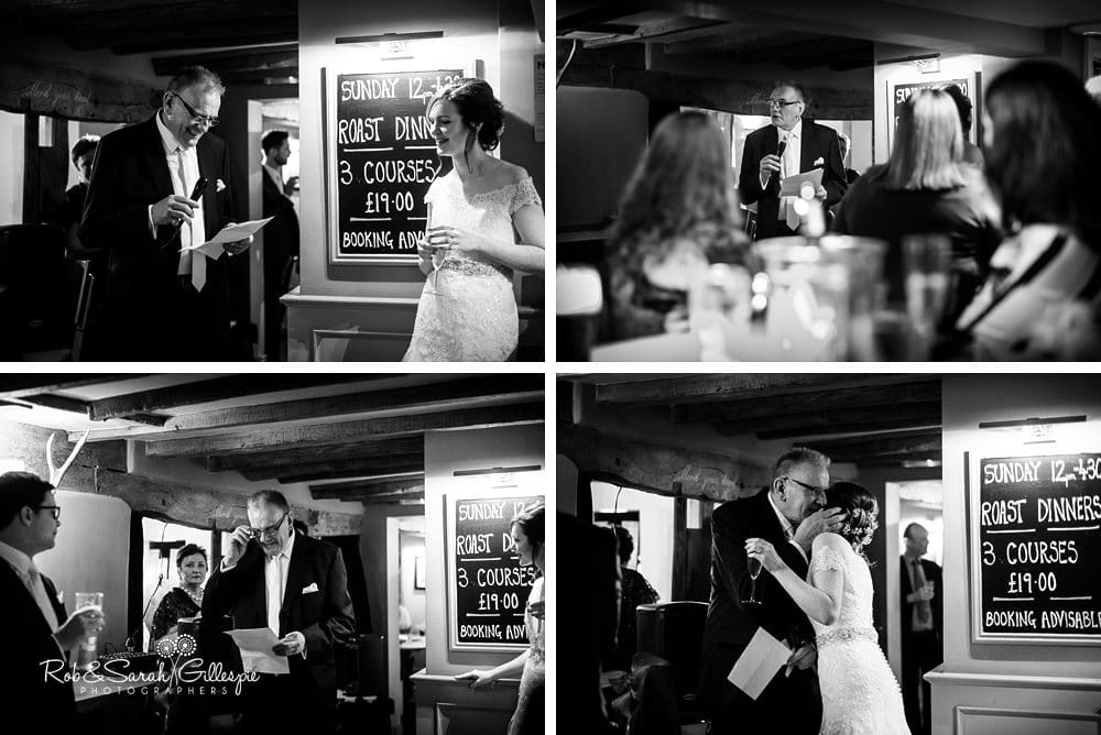 Wedding speeches at The Vernon pub in Hanbury