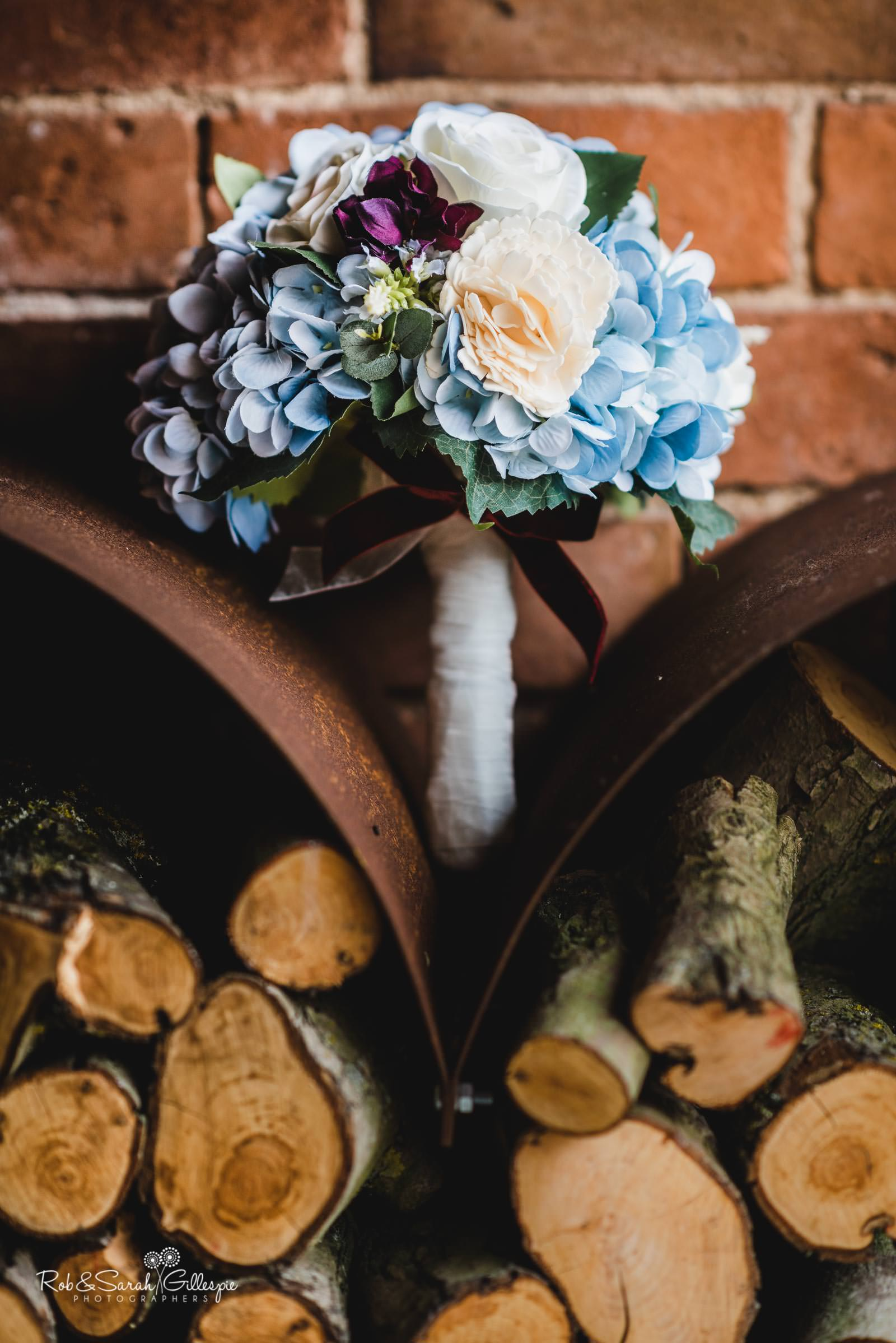 Brides bouquet at Swallows Nest Barn