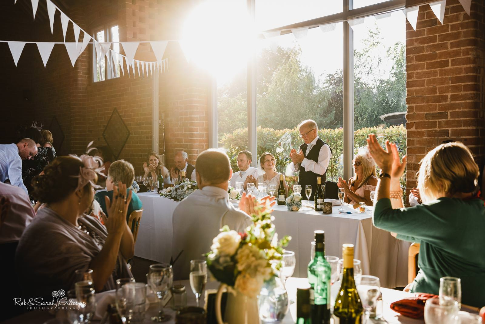Wedding speeches at Swallows Nest Barn