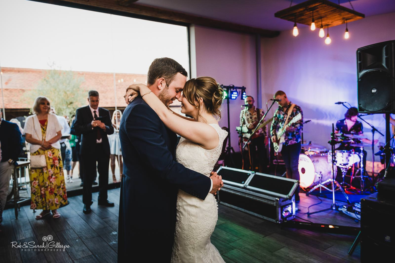 Swallows Nest Barn wedding - bride and groom first dance