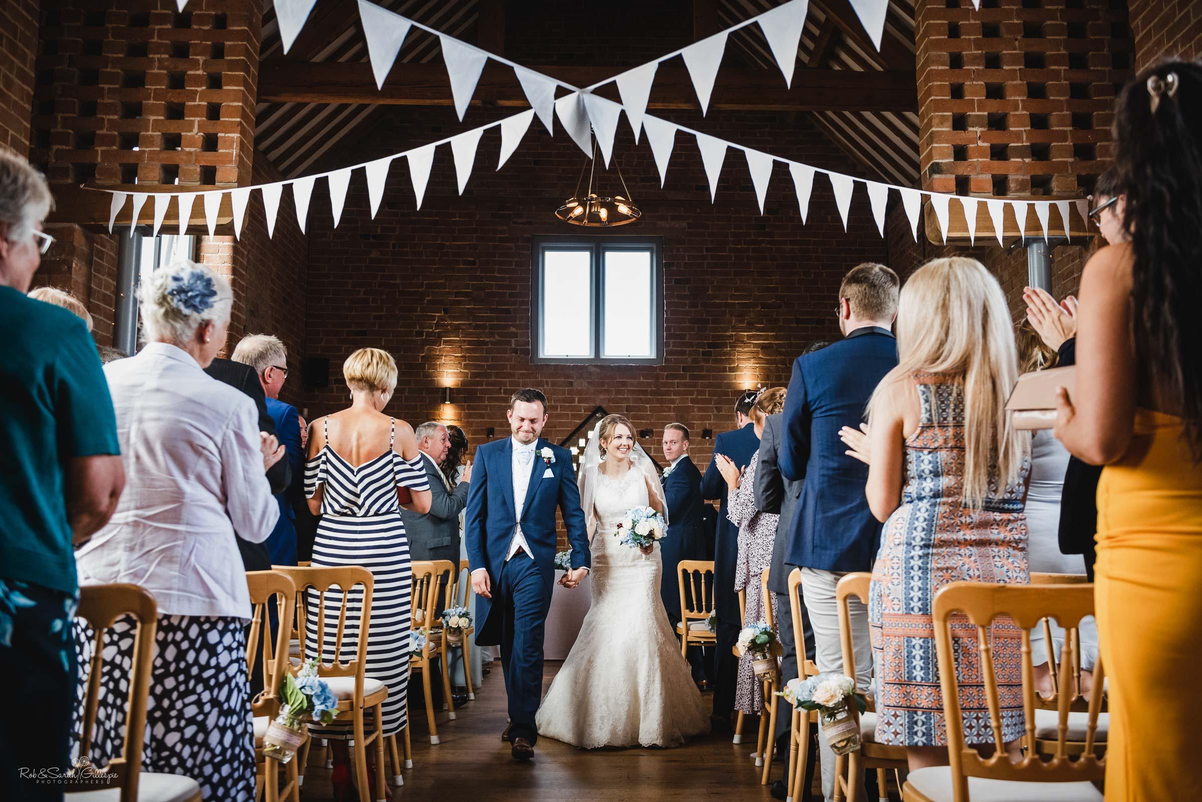Wedding photography at Swallows Nest Barn in Warwickshire