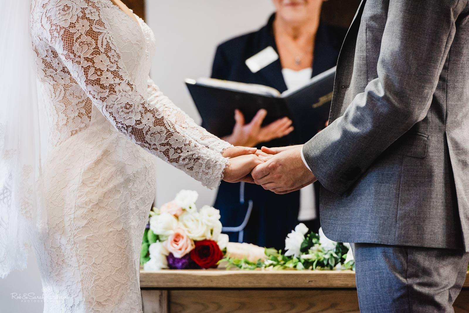 Wedding ceremony at Henley Room in Stratford upon Avon
