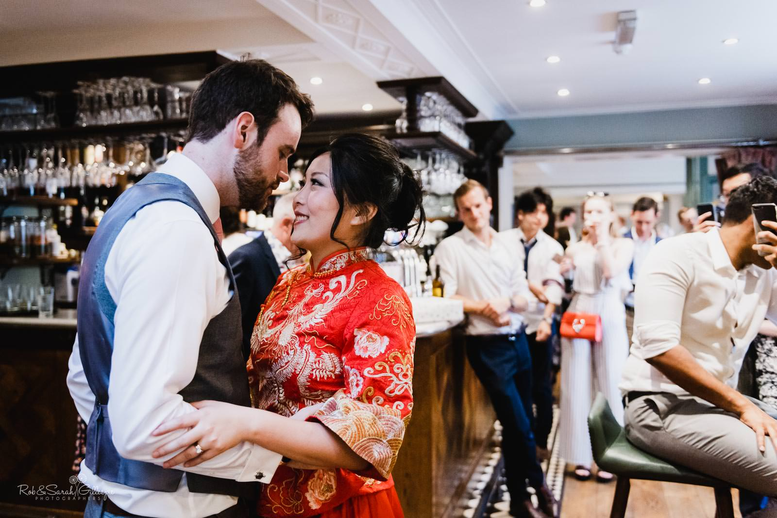 Bride and groom dance at Townhouse in Stratford upon Avon
