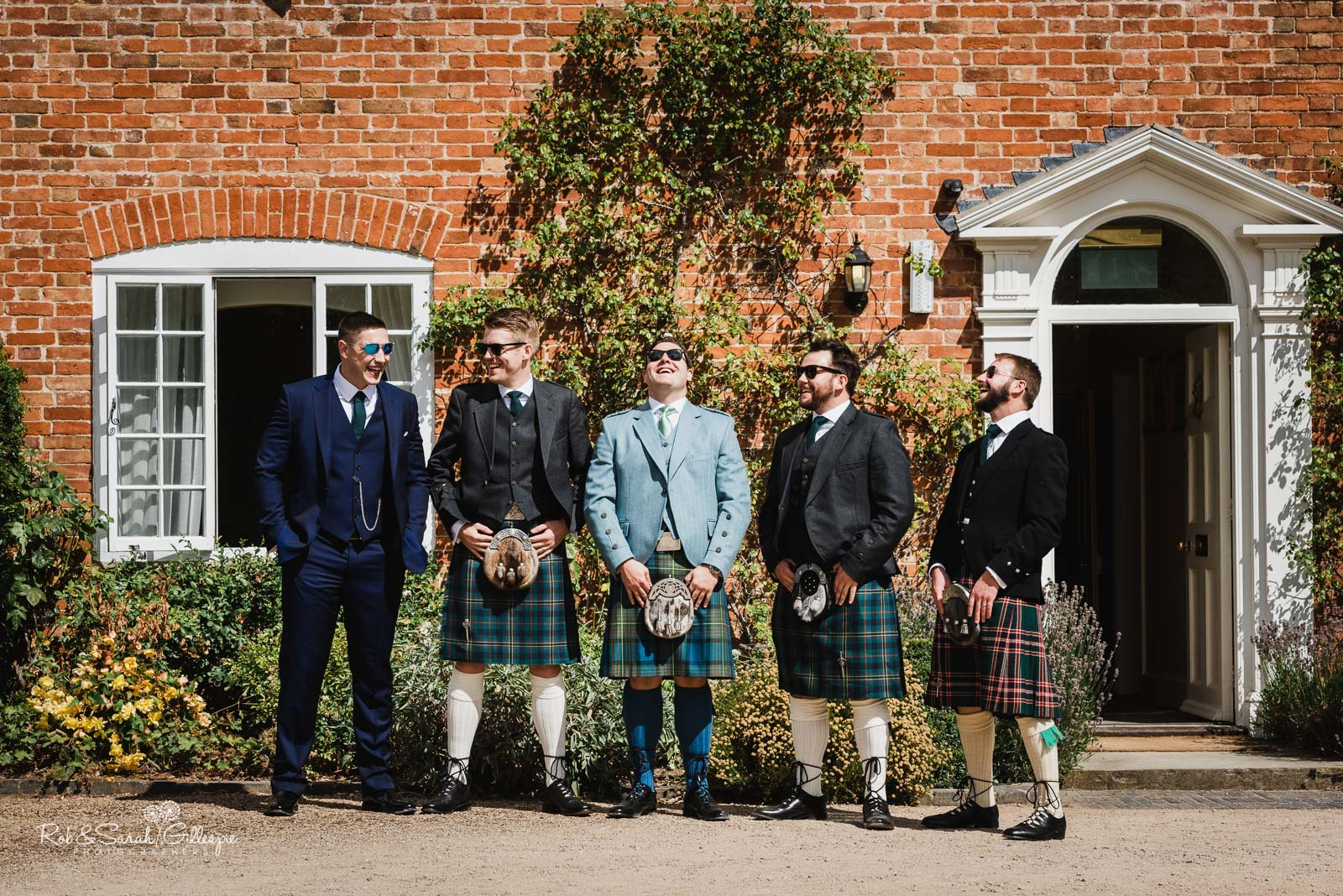 Group photo of groom and ushers at Wethele Manor