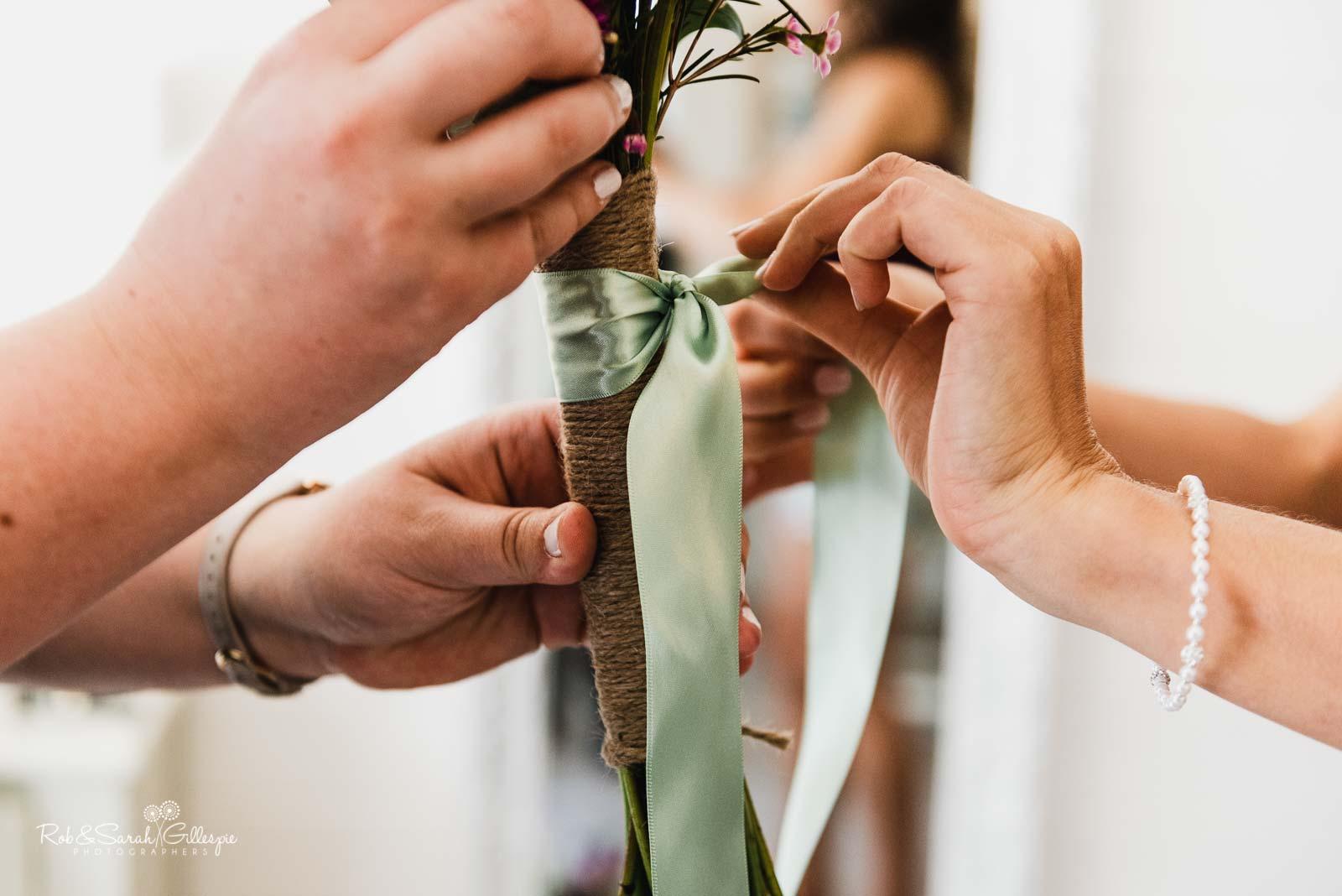 Bride preparations at Wethele Manor