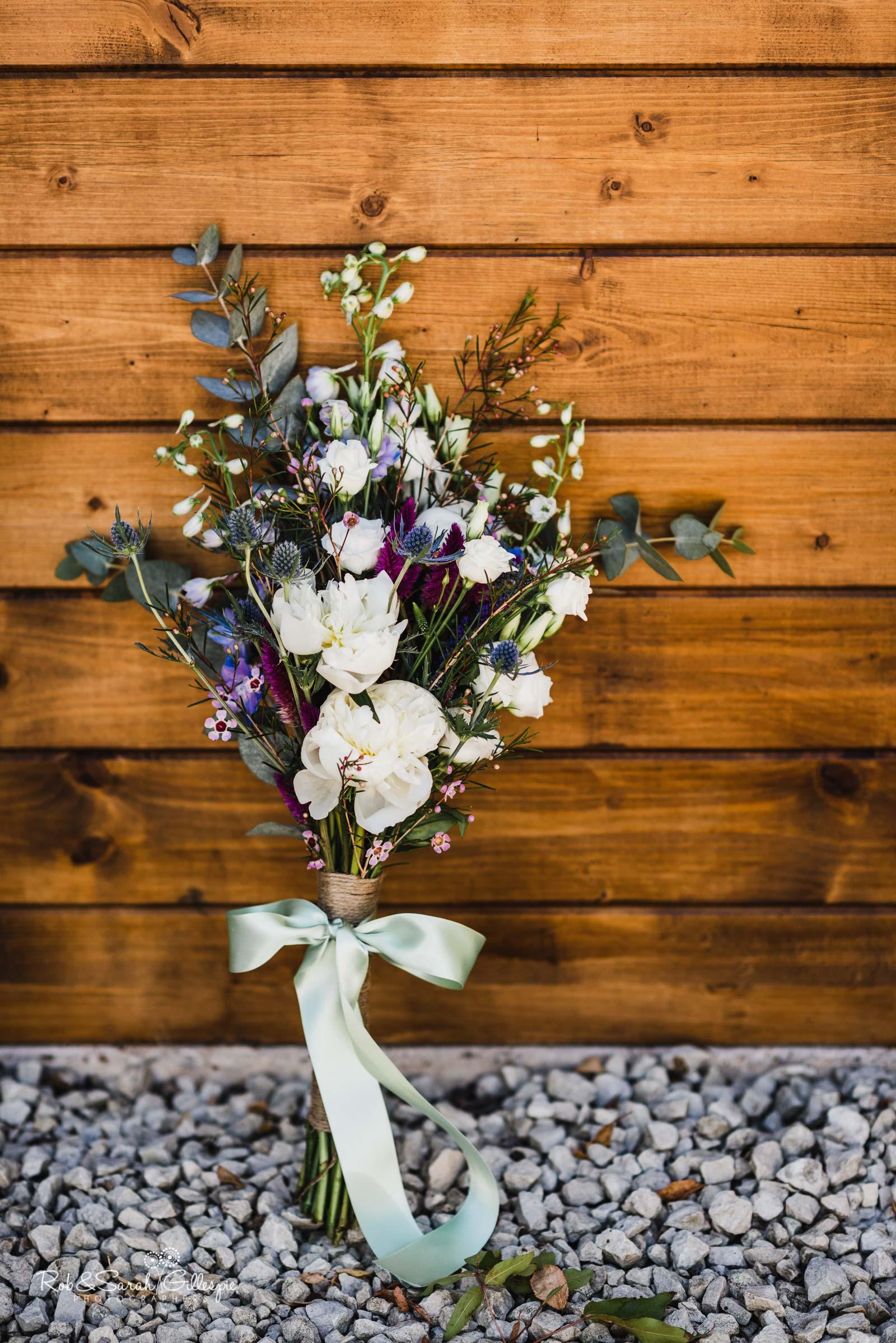 Bridal bouquet at Wethele Manor wedding
