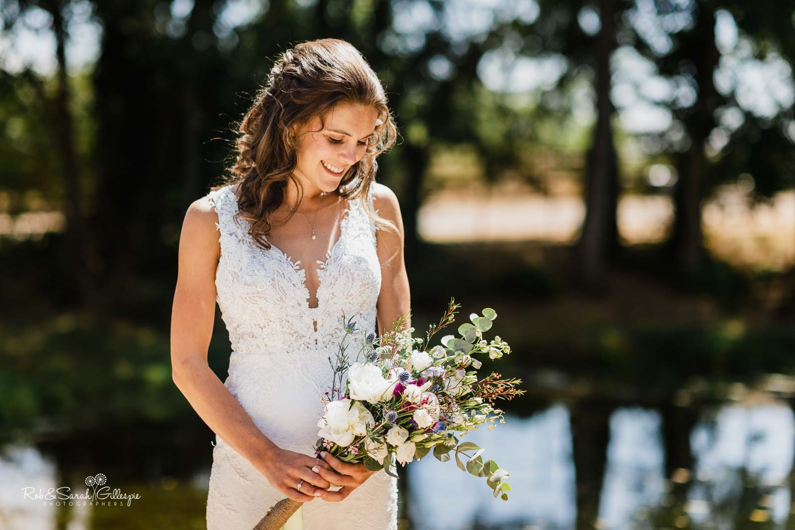 Portrait of bride outside at Wethele Manor