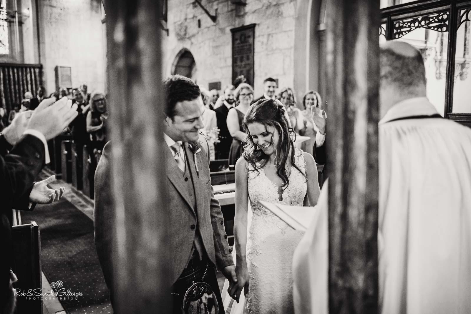 Wedding at St Giles church Packwood