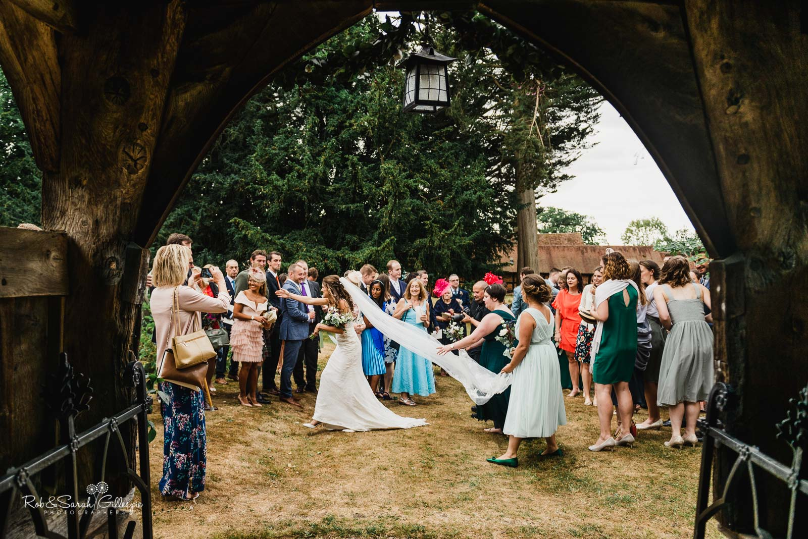 Natural and candid wedding photography at St Giles church Packwood