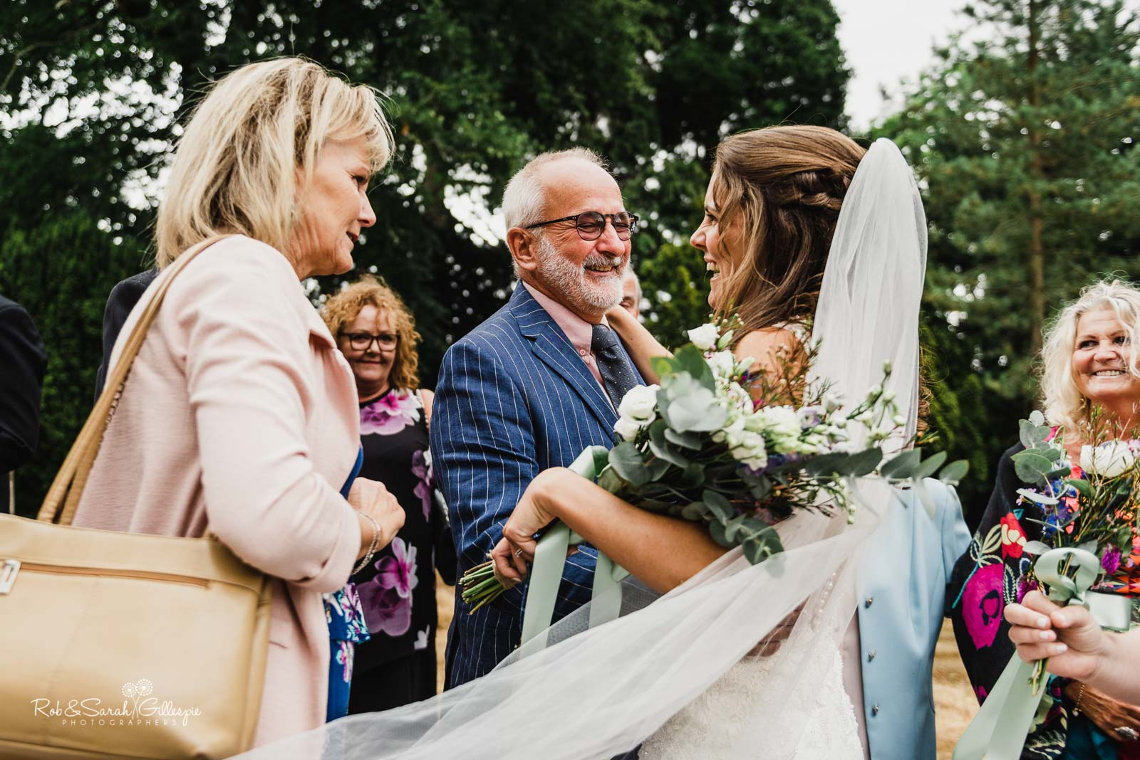 Natural and relaxed wedding photography at St Giles church Packwood