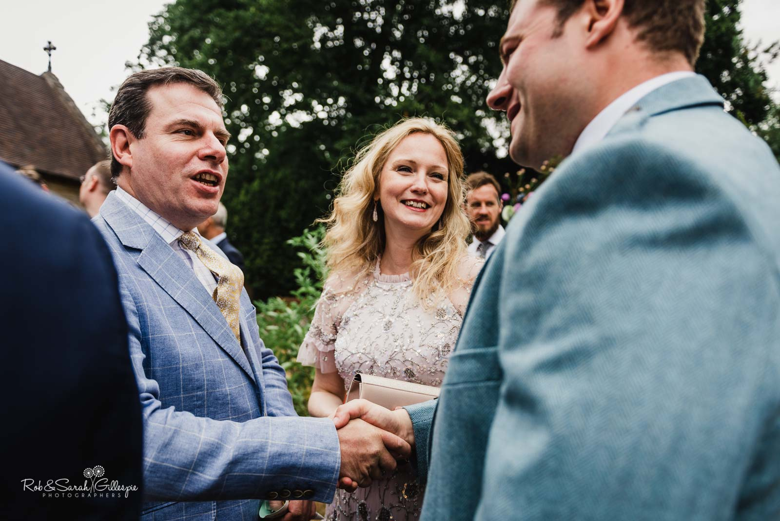Documentary wedding photography at St Giles church Packwood
