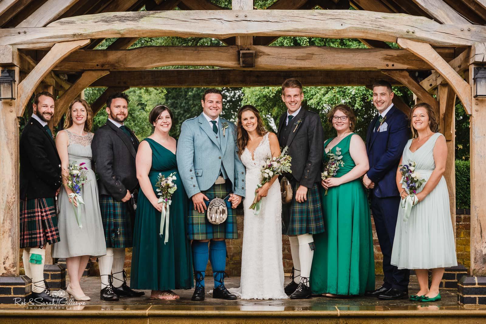 Group photo at Wethele Manor wedding