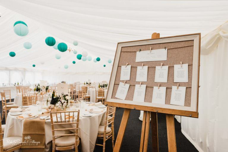 Wedding marquee at Wethele Manor