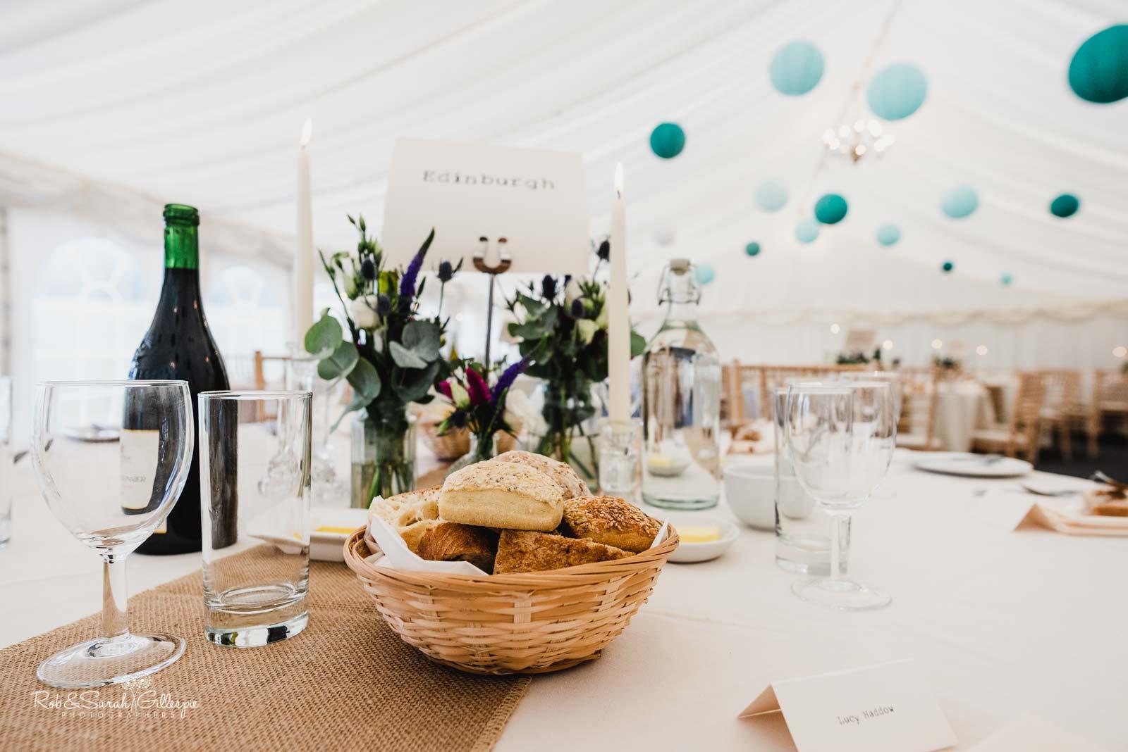Wedding breakfast at Wethele Manor