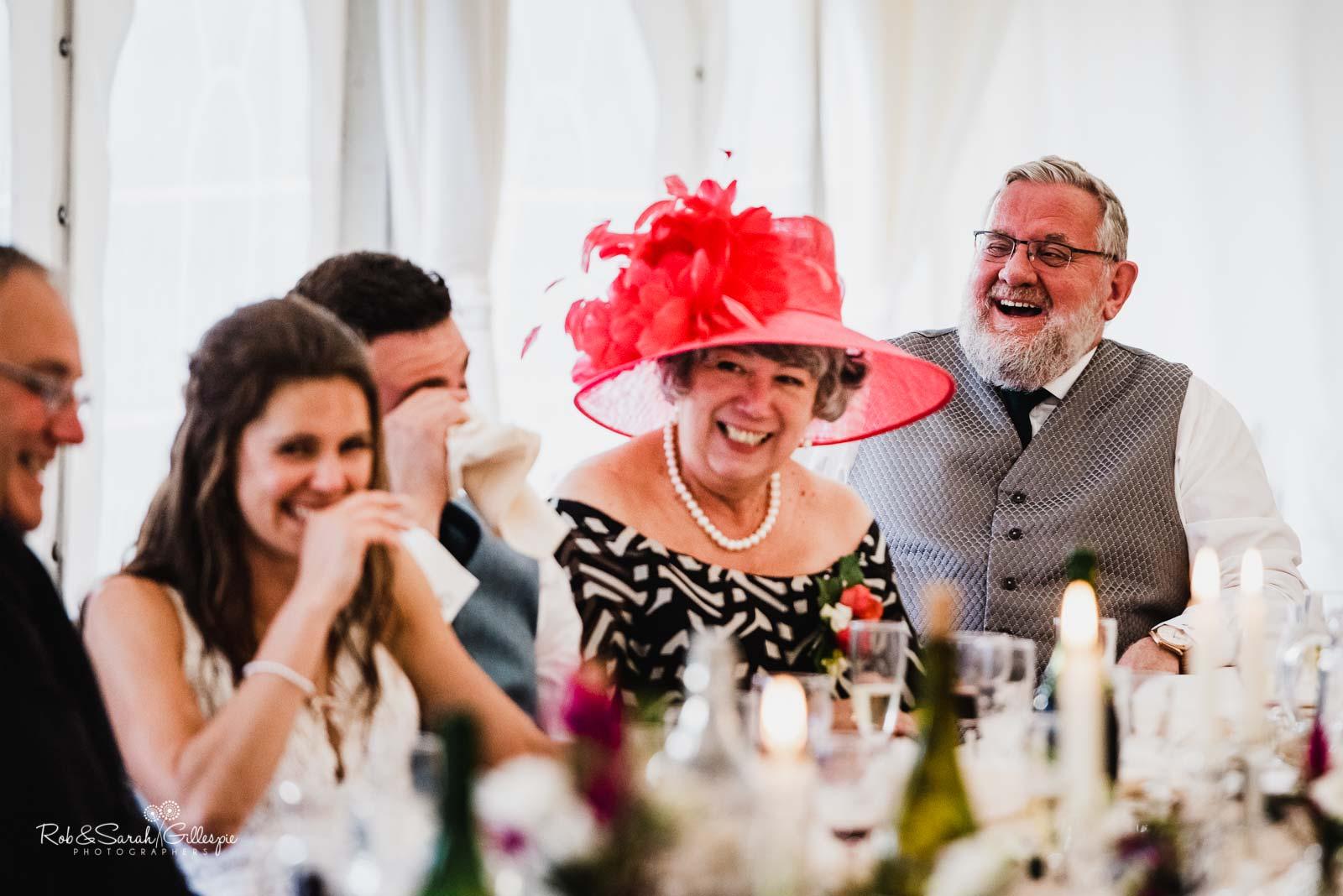 Wedding speeches at Wethele Manor