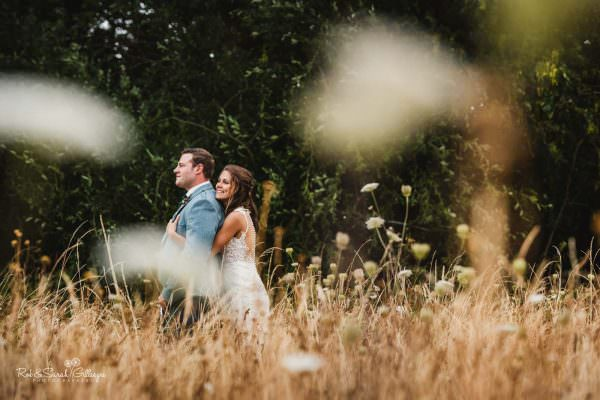 Bride and groom enjoying time together at Wethele Manor wedding