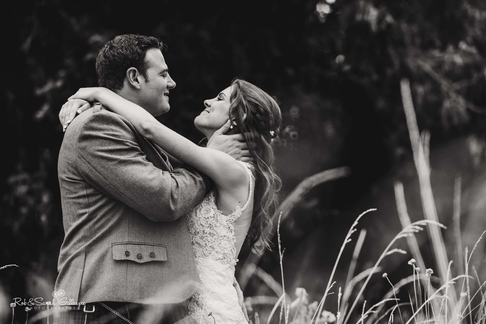 Bride and groom together at Wethele Manor