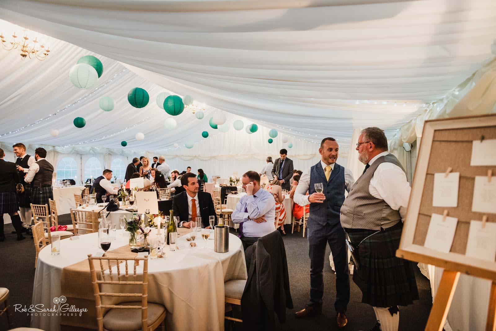 Wedding reception at Wethele Manor
