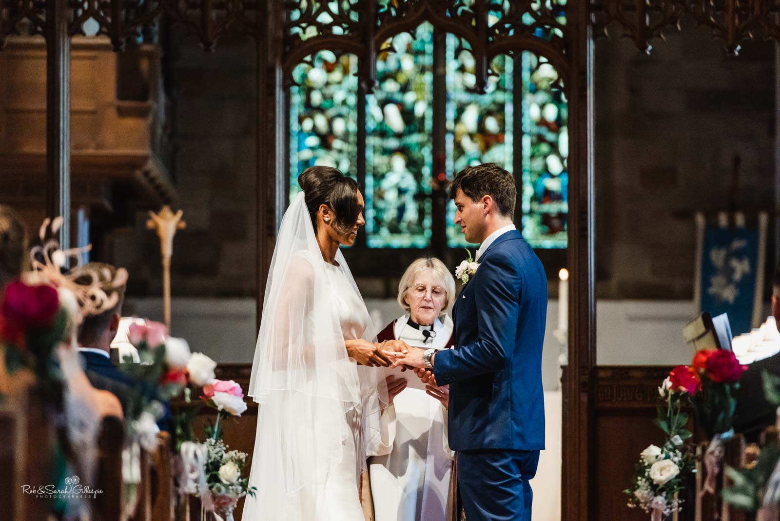 Wedding ceremony in Hampton-in-Arden church