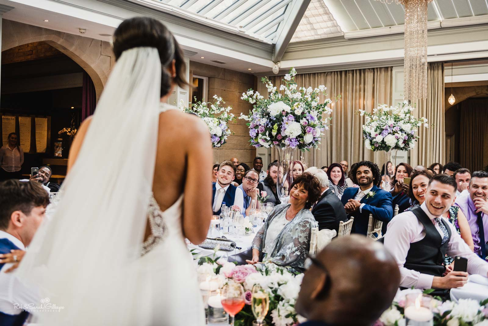 Wedding reception speeches at Hampton Manor