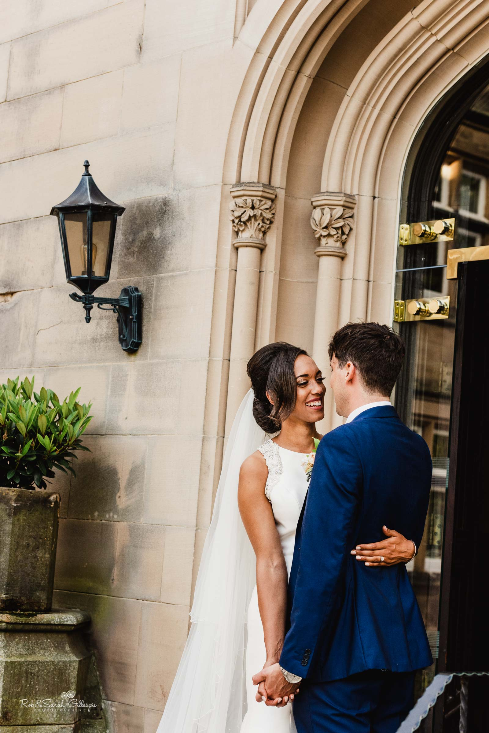 Bride and groom couple portraits at Hampton Manor