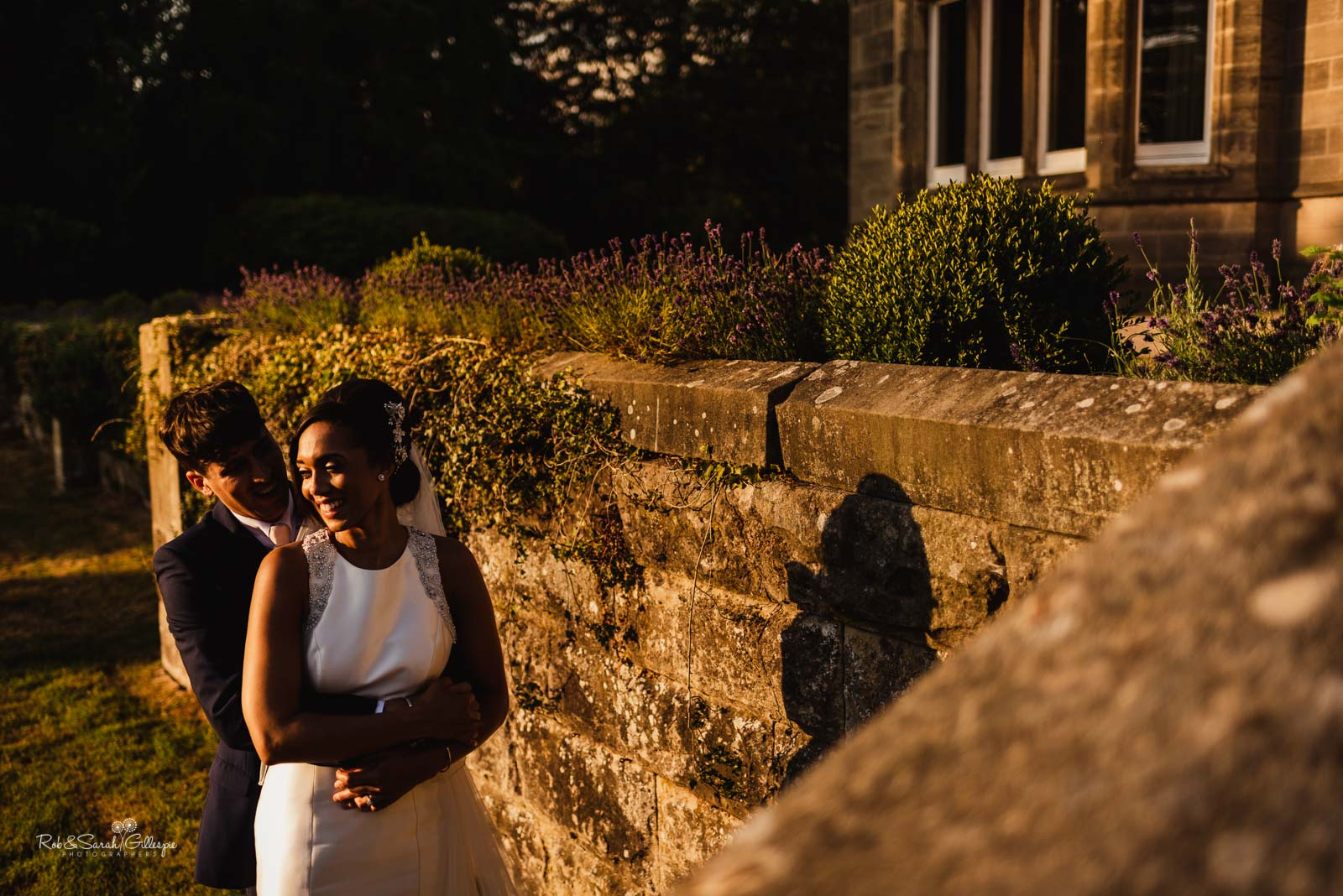 Relaxed wedding portraits at Hampton Manor by Rob & Sarah Gillespie Photographers