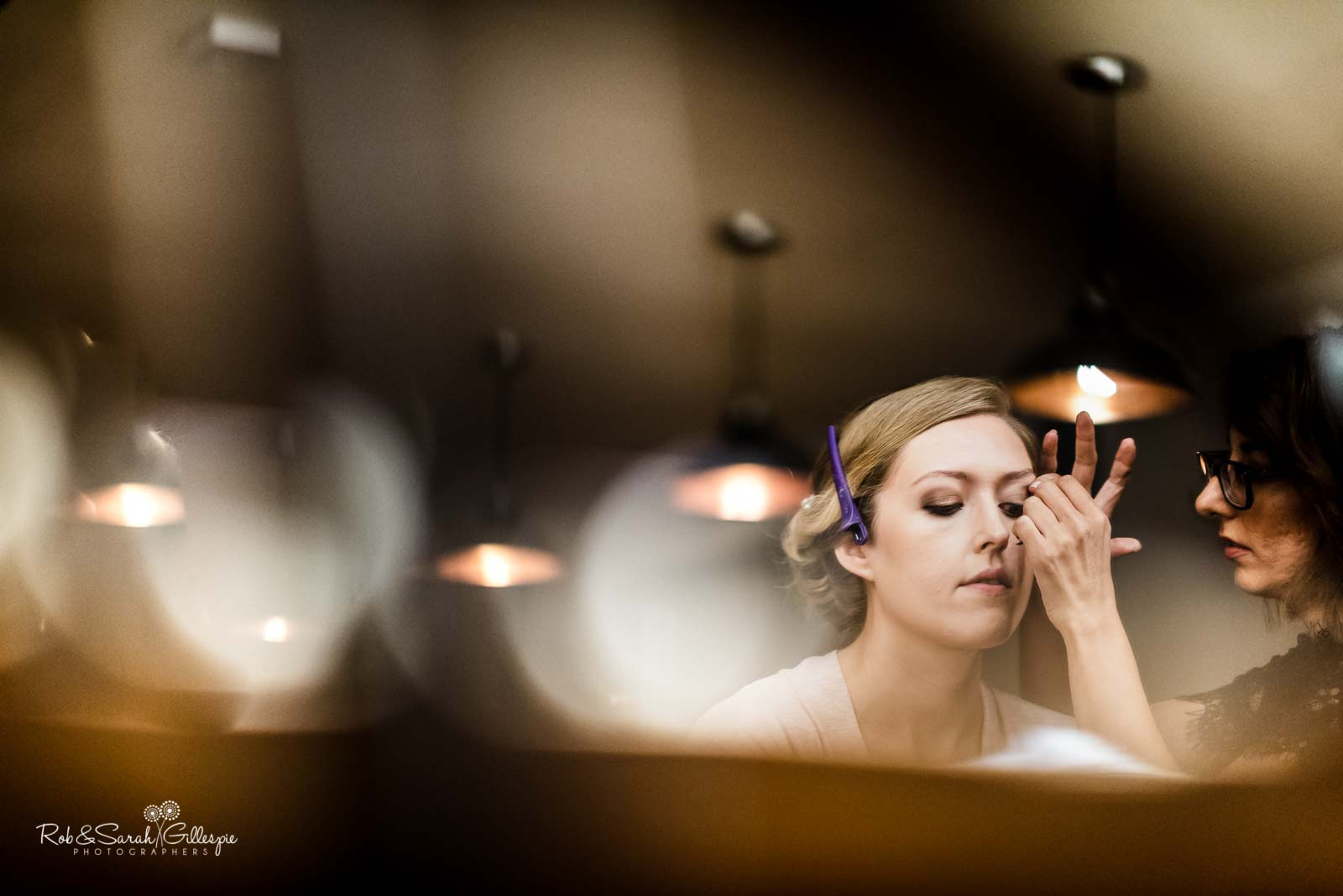 Bride makeup at The Mill Barns